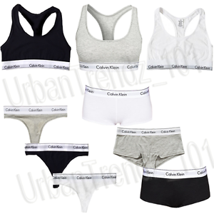 calvin klein 3 st ck damen sport bh tanga slip unterw sche set neu mit box ebay. Black Bedroom Furniture Sets. Home Design Ideas