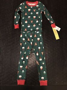 4ec45fe39e7a CARTER S Boys Sz 3T Toddler CHRISTMAS Holiday 2-Pc Cotton Pajama Set ...
