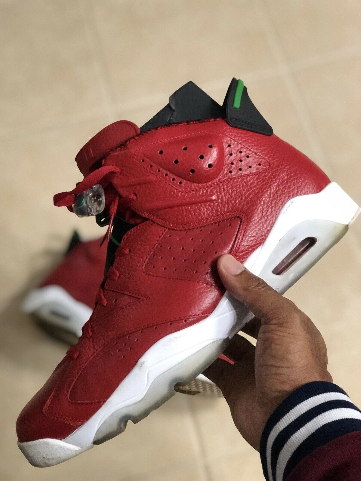 Size 13 Nike Air Jordan 6 XI Retro Spiz'ike History of Jordan Red PreOwned Used