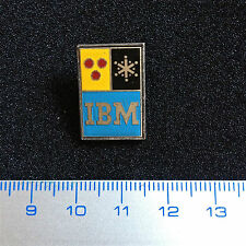 US Pin Rare Badge with lovely Design Logo IBM. Fine Old Lapel Enamelled