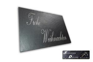 3er-SET Schiefer Buffet-Platte Servierplatte Schieferplatte Käseplatte 30cm rund