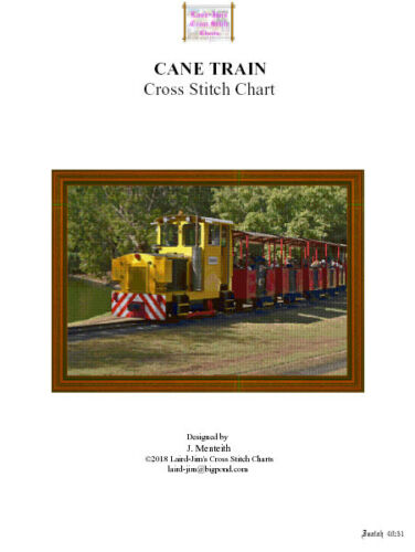 CROSS STITCH CHART CANE TRAIN