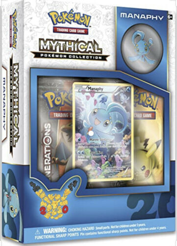 Manaphy Mythical Collection Pin Box POKEMON TCG Generations Pack 20 Anniversary