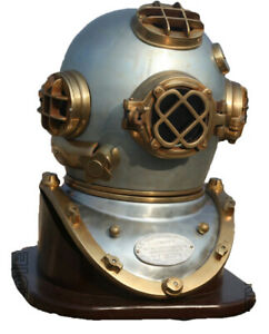 Vintage Divers Helmet 18 inch US Navy Mark V Deep Sea Antique Gift