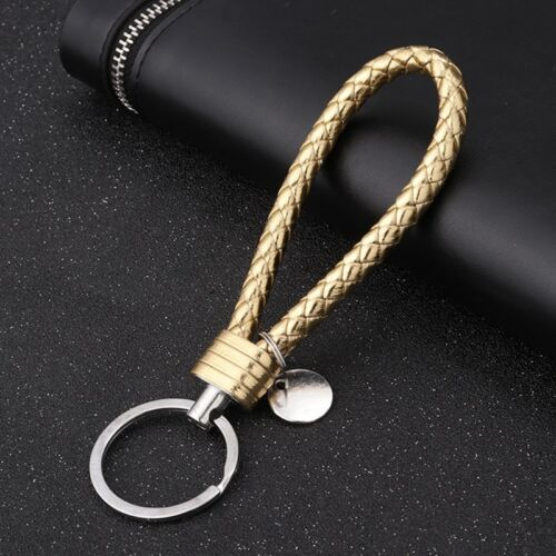 Colorful Vehicle Car Keychain Key Chain Key Ring Key Leather Rope Strap Weave