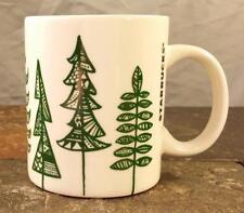 Starbucks Coffee 2015 Green Holiday Pine Christmas Tree 12 oz Coffee Mug Tea Cup
