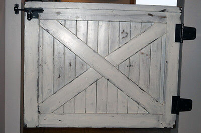 "Custom Handmade Farmhouse Baby Pet Gate Distressed White Fixer Upper up to 36/"""