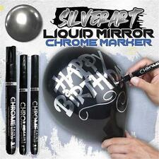 3pcs Liquid Mirror Chrome Marker Pen Chrome Silver Model Gloss Paint Marker Pen