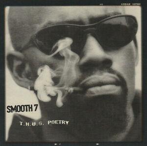 """SMOOTH 7 """"THUG P.O.E.T.R.Y."""" (NEW CD)"""