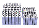 48 AA 3000mAh + 48 AAA 1800mAh 1.2V NI-MH Rechargeable Battery 2A 3A Grey Cell