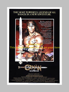 CONAN-THE-DESTROYER-PP-SIGNED-12-034-X8-034-POSTER-ARNIE