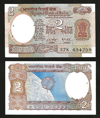 United India 2 Rupee 1976 Unc P-79i Letter B Malhotra Discounts Price ,sign 85 R.n