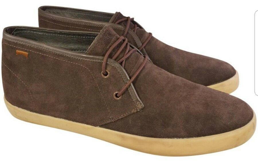 CAMPER MAN BOOTS SHOES CHUKKA BROWN SUEDE SIZE EUR 46 US 12 EUC