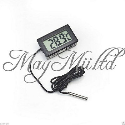 Aquarium LCD Electronic Digital Thermometer Fish Tank Water Thermograph  CA