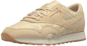 5a7cf52aff9efc Reebok CL Nylon RS Men s Shoes Fashion Sneaker Casual Beige BS9568 ...
