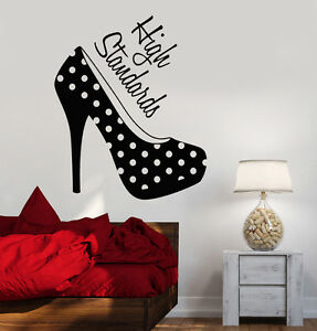 Vinyl Wall Decal Women S High Heel Shoes Girl Room Fashion