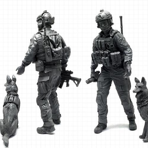 1 X 1:35 Moderne amerikanische Spezialeinheiten und Militärhunde Soldier Model