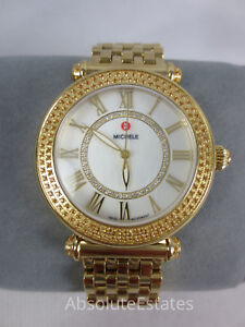 2af2c182b Image is loading Michele-Caber-Topaz-Gold-Diamond-Dial-Watch-MW16A41B1963-