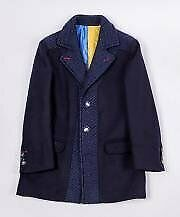 Cappotto-In-Panno-Blu-Bambino-Manuell-amp-Frank-M2849