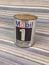 VTG MOBIL 1 MOTOR Oil Can Bank Gas Oil Advertising Petroliana Mobiloil Pegasus