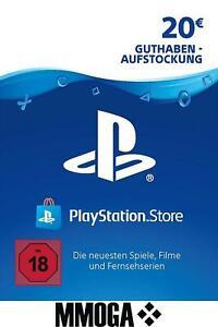 PSN 20€ Playstation Network Card Code 20 Euro € EUR PS4 PS3 Vita Guthaben - DE