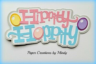 CRAFTECAFE MINDY EASTER bunny trail DIECUT premade paper piecing scrapbook title