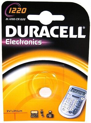 DL1220 BR1220 1x CR1220 Blister Lithium Knopfzelle Duracell CR 1220