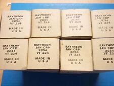 Vacuum Tubes / RADIO TUBES - 2C34    JAN / RAYTHEON  (4 NOS/NIB)  (4 offers)