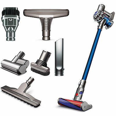 Dyson V6 Fluffy Cordless Vacuum Cleaner With Attachment Tools for Hard Floors