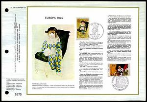FRANCE-CEF-1975-EUROPE-CEPT-PABLO-PICASSO-Nature-Painting-Arlequin-z1852