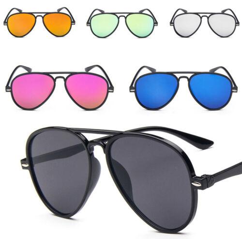 Mode Verspiegelte Linse Plastik Rahmen Piloten Sonnenbrille Schwarzes Gestell