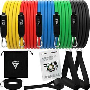 RDX Bandas de Resistencia Set Con 5 Tubo de Fitness Certificado REACH Rohs CPSIA