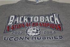 UCONN Huskies NCAA Women's Basketball Back to Back Champions 2002-2003 Size XL