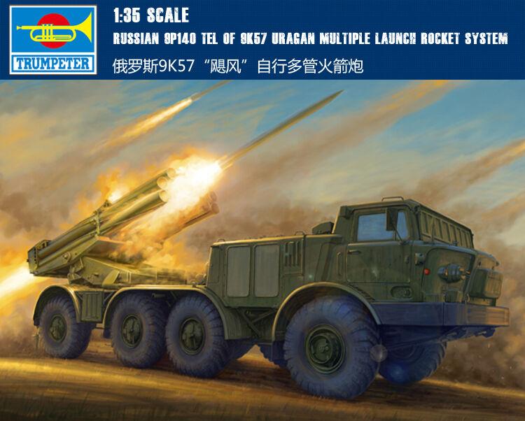 ofrecemos varias marcas famosas 01026 9P140 Tel de 9K57 Uragan múltiples múltiples múltiples de cohetes de artillería escala 1 35 Trumpeter  venta directa de fábrica