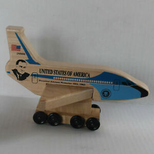 New President Johnson Air Force One Wooden Airplane Holgate Toys