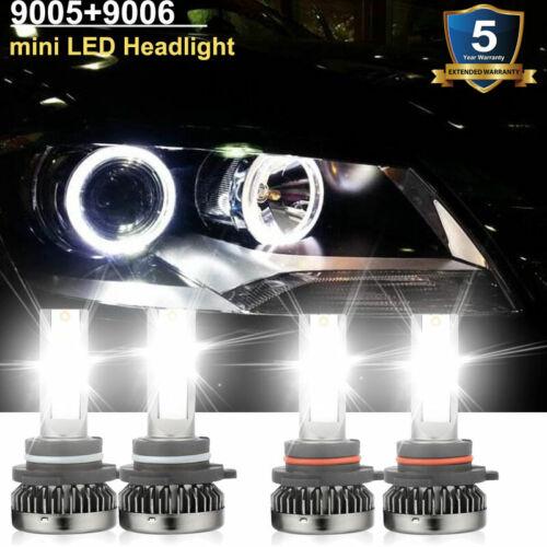 mini 9005+9006 LED Headlight Bulbs for Chevy Silverado 1500 2500 HD 3500 1999-06
