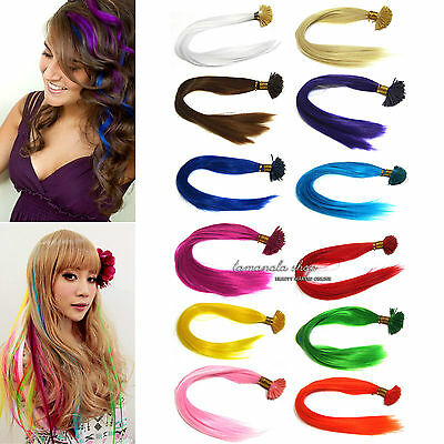 Neon Single Color Synthetic Feather Hair Extensions Salon Home Party Highlight