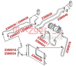 Air Conditionné Pour Climatisation Boucher 2360040 Haute pression//basse pression tuyau