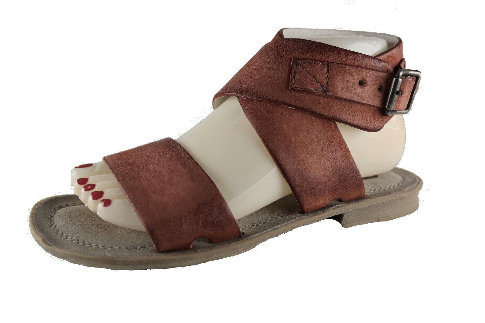 Mjus señora sandalias con tiras sandalias Antik Color marrón-rojizo talla 37  nuevo  (172)