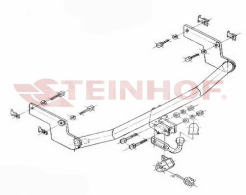 Peugeot 206 3//5P Hayon 98-03 Attelage fixe+faisceau 7-broches uni.
