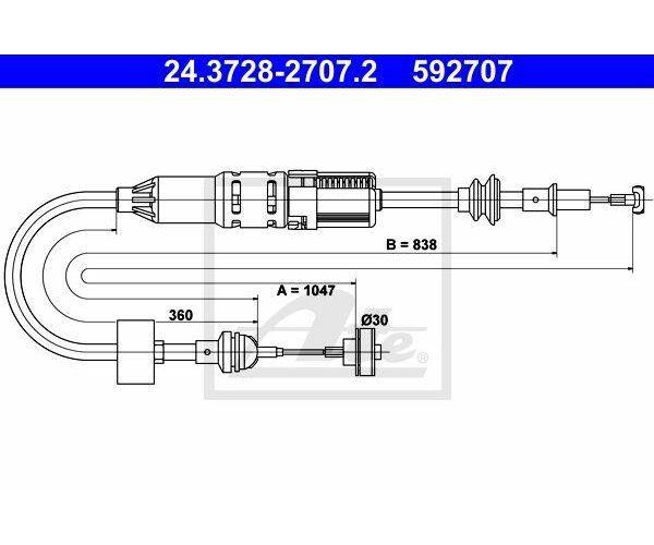 Kupplungsseil Kupplungszug K26510 für VW POLO 6N1 6N2 LUPO 6X1 6E1 6NF 2 A.B.S