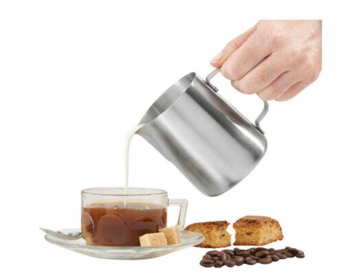 DE Milchkännchen Edelstahl Espresso Aufschäum Kännchen Milch Kanne Coffee Cup