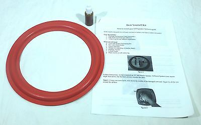 """2 Cerwin Vega Red with Instructions /& Glue. Two New 8/"""" Speaker Foam Surrounds"""
