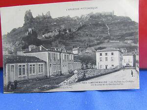 CPA-07-Rochemaure-Les-Schulen-und-die-Gendarmerie-mit-das-Chateau