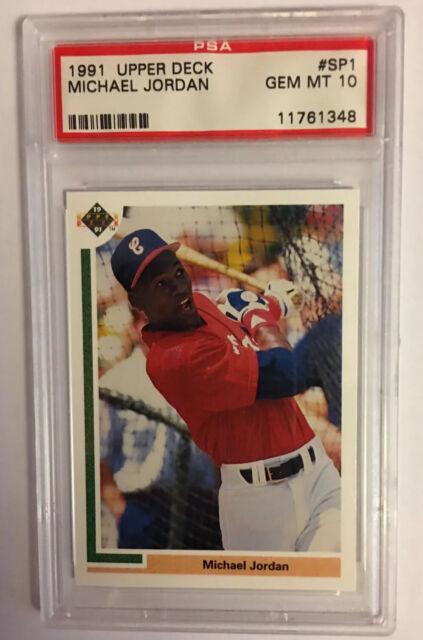 1991 Upper Deck Baseball Michael Jordan SP1 RC PSA 10.