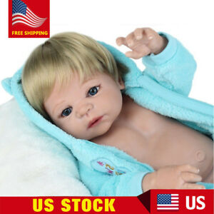 8a555d81d Full Body Soft Reborn Baby Dolls Vinyl Silicone Realistic Newborn ...