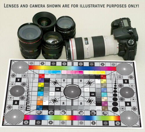 Set of Large High Resolution Test Charts for Canon EOS 1D Mark IV dSLR Camera