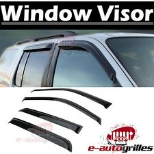 Window Visor Rain Sun Guard Vent Shade Smoke for 07-14 Cadillac Escalade ESV