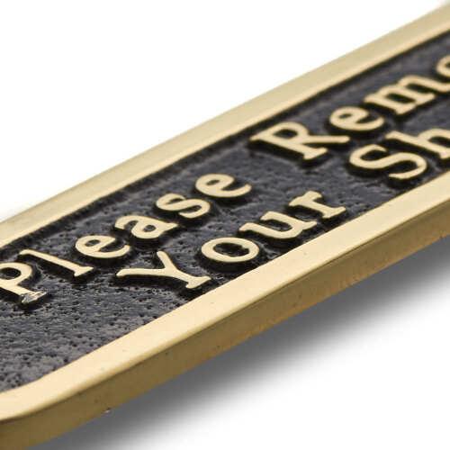 votre de enlever chaussures dcoration signe de porte style de laiton Plaque Veuillez de en traditionnel 5SUqwxSCt