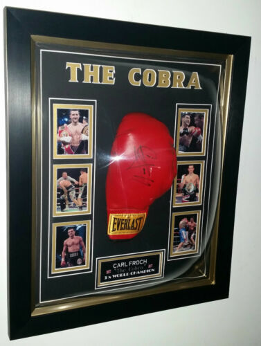 NEW Carl Froch SIGNED BOXING GLOVE Autograph Display